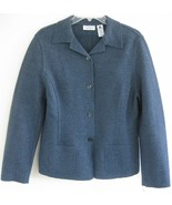 New Wool knit jacket Heather blue 10 NWT Lord &... - $49.99