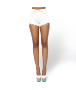 Nicki Minaj  Women's High Rise Cut-Off Denim Sh... - $9.99