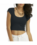 Nicki Minaj  Women's Studded Crop T-Shirt Black... - $5.99