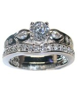 1.25 Ct Round Cut Cz Engagement Wedding Ring Se... - $29.99