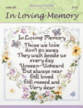 In Loving Memory L288 cross stitch chart Stoney... - $6.75