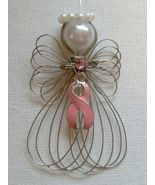 Breast Cancer Awareness Pink Ribbon Angel Ornam... - $8.00