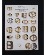 Vintage Salesman Sample Belt Buckles Display Ca... - $34.35