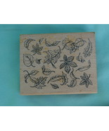 Scattered Leaves Rubber Stamp - Makes a nice ba... - $2.99