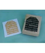 Happy Birthday Gift Tag Style Rubber Stamp by S... - $2.99