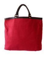 Authentic Cole Haan Red Canvas & Braided Leathe... - $45.00