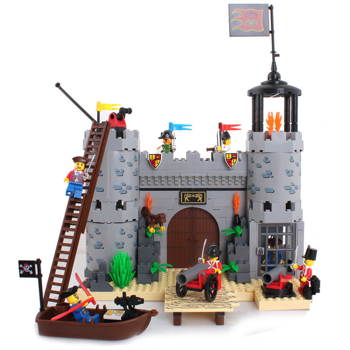Toy Pirate Lego : Imperial barracks castle lego compatible pirate toy