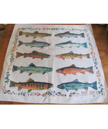 TROUT/FISH NECK SCARF/BANDANA-1997 THE PRINTED ... - $16.90