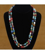 Native American Turquoise Coral Silver Treasure... - $119.97