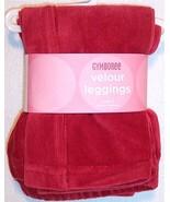 NEW Gymboree Girl's Red Velour Leggings, Holida... - $12.99