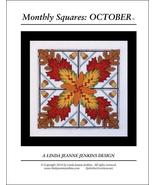 Monthly Squares October cross stitch card chart... - $6.00