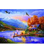 Grandpa's Cabin 1000+ piece Puzzle Jigsaw Puzzl... - $14.85