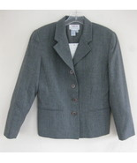 NWT Talbots Gray blazer Pure wool 6P $180 Heath... - $69.99