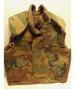 US Military Flak Jacket Woodland Camo Body Armo... - $122.45