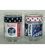 Apollo Moon Mission NASA Vintage Drink Glasses Libbey