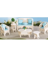 Miniature Wicker Patio Set of 6 Collectible Fig... - $21.95