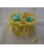 Baby Booties, Yellow, Antique Lace Pattern, 100... - $20.00