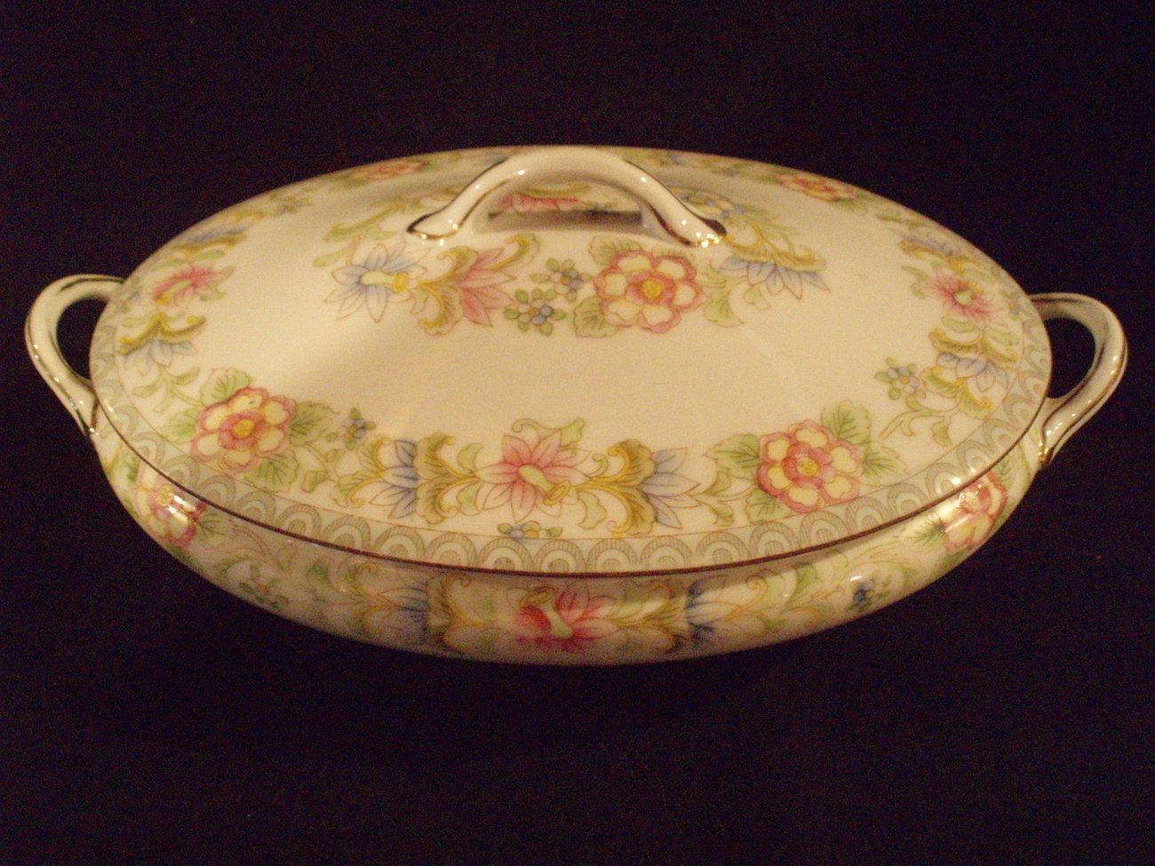 vegetable server/cover Noritake Nippon The Flamengo antique