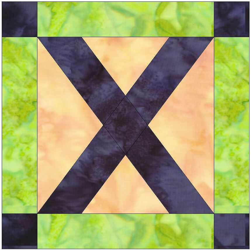 Foundation Pieced LetterxPaper Piece Quilting Block Pattern in PDF - Quilt Patterns
