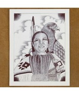 Limited Edition Native American Print Indian Sq... - $49.97