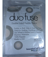 Duo Fuse Double Sided Fusible Fleece 45 inches ... - $15.00