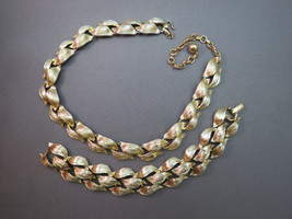 VTG Lisner Link Necklace Bracelet Set Gold Plat... - $39.99