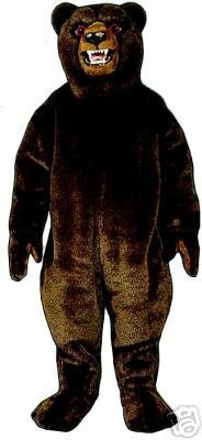 PROFESSIONAL CUSTOM MADE GRIZZLY BEAR MASCOT COSTUME