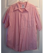 Men' Old Navy Button-Front Size XL Pink and Whi... - $12.95