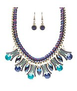 Statement Faceted Gem Bib Style Bold Fashion Ne... - $21.00