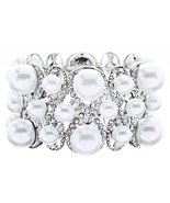 Bridal Wedding Jewelry Multi Shape Pearl Crysta... - $18.40