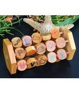 Vintage Wooden Learning Toy Alphabet Numbers An... - $19.95