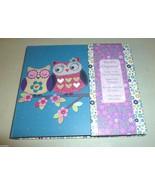 PURPLE & BLUE FLORAL PATCHWORK OWL NOTE MEMO PA... - $14.99