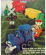 CROCHET Pattern~CHOO CHOO TRAIN~Engine+3 Cars+C... - $49.49