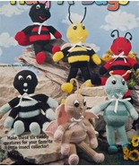 CROCHET Pattern~Hug Bugs~6 Insect Toys:Ant+Bee+... - $9.89