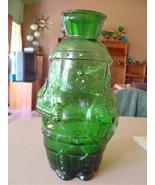 Vintage  Green Glass Vase Italy