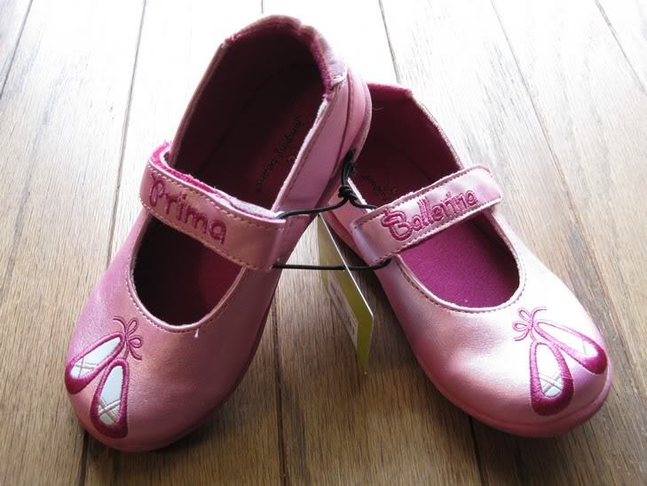 Girls Pink Dress Shoes Size 6 Ballerina Jumping Beans New