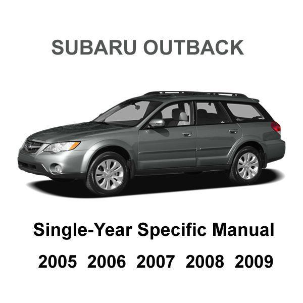 2005 - 2009 Subaru Outback Factory Repair Service Fsm Manual   Wiring Diagram