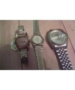 Lot 3 Vintage Wrist Watches Casio Benruss Timex... - $29.69