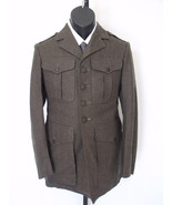 VTG Military Army Green Olive Wool Field Dress ... - $128.69
