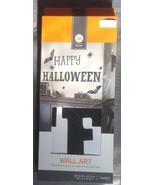 Halloween Black Happy Halloween Bat Spider Wall... - $5.00