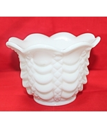 RARE Vintage Fostoria Milk Glass Drape & Diamon... - $20.00
