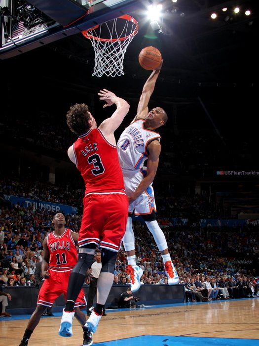 Russell Westbrook Oklahoma City Thunder Monster Dunk 32x24