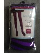 Halloween Costume Purple & Black Striped Nylon ... - $3.97