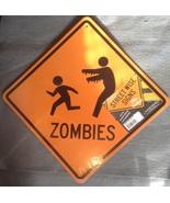 Halloween Orange Yellow Running Zombies Trick-o... - $3.99