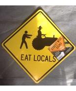 Halloween Orange Yellow Zombies Eat Locals Grav... - $3.99