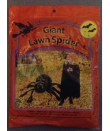 One Giant Black Halloween Spider Lawn Bag Set w... - $3.99