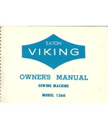 Eaton Viking Owners Manual Vintage Sewing Machine Model 1366