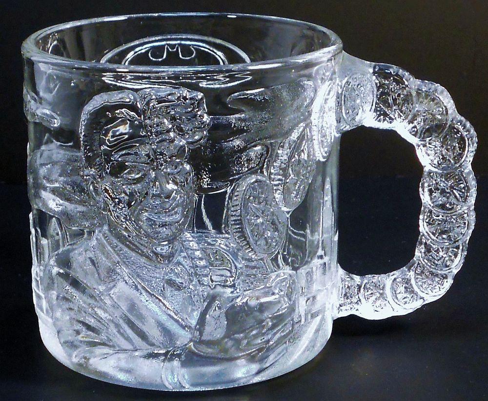 Batman Forever Two-Face Mug McDonalds glass 1995