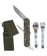 European Military 4-in-1 Knife Fork Spoon Screw... - $17.59