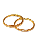 Twisted 12mm 22K Gold over Solid Sterling Silve... - $12.00